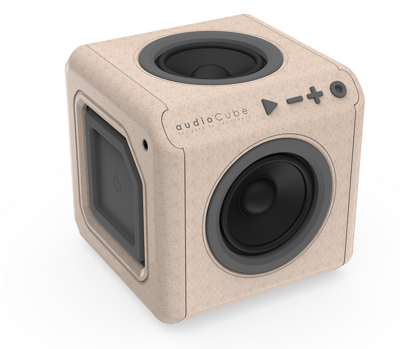 PowerCube audioCube Portable - Světlé dřevo