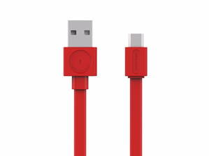 Kabel MicroUSB (Android, Windows Phone) - Červená